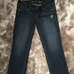 """American Eagle Outfitters Crop """"artist""""  Jeans"""